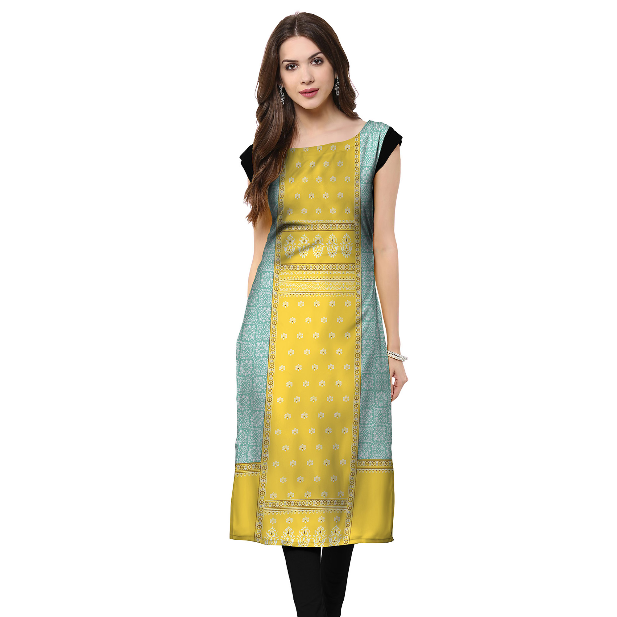 Unique Casual Printed Crepe Kurti - Pack of 3