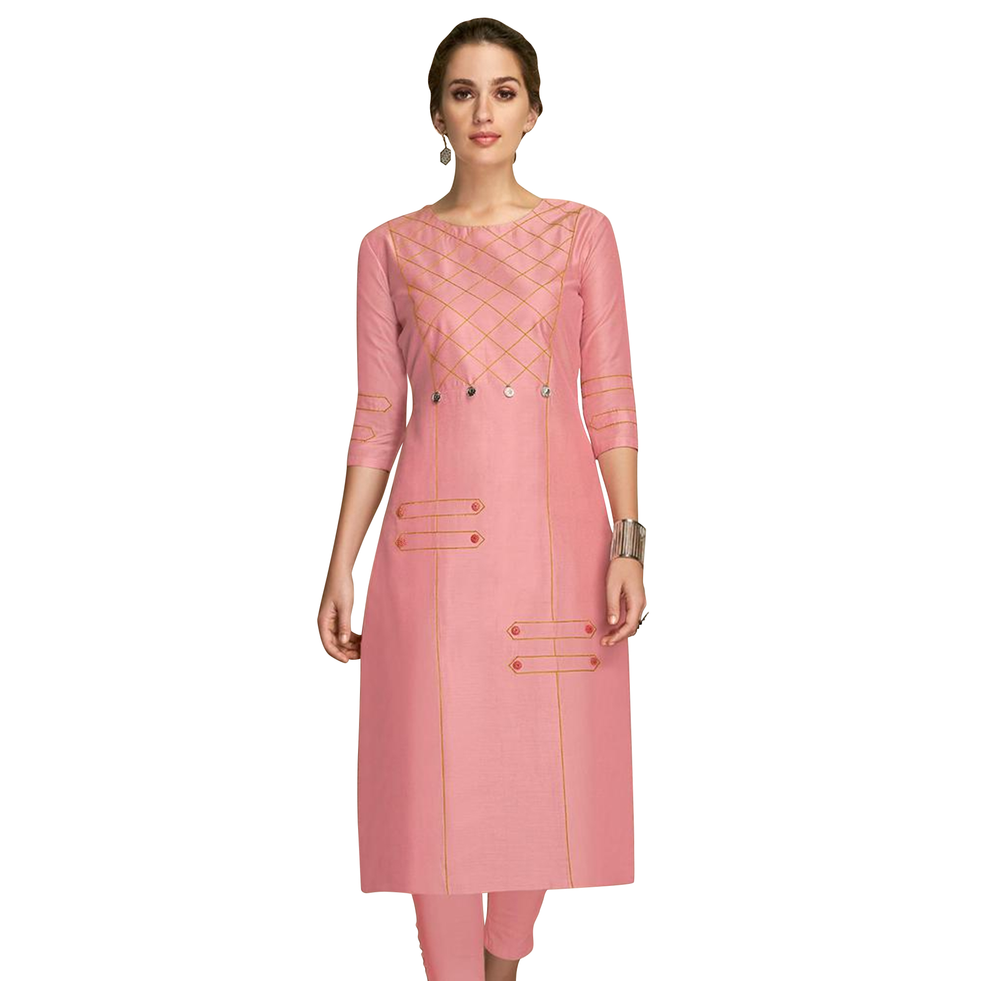 Fantastic Partywear Embroidered Viscose Kurti - Pack of 2