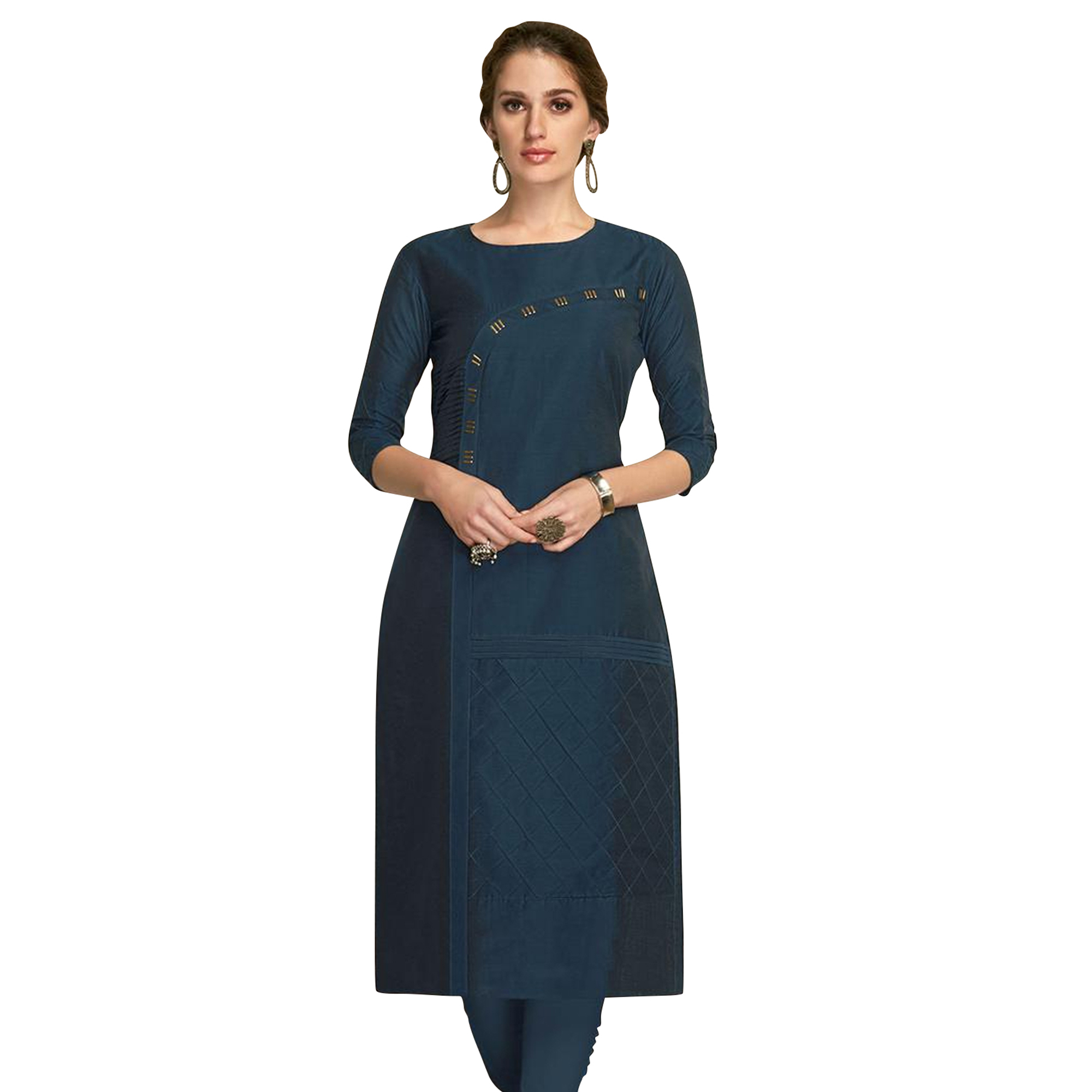 Amazing Partywear Embroidered Viscose Kurti - Pack of 2