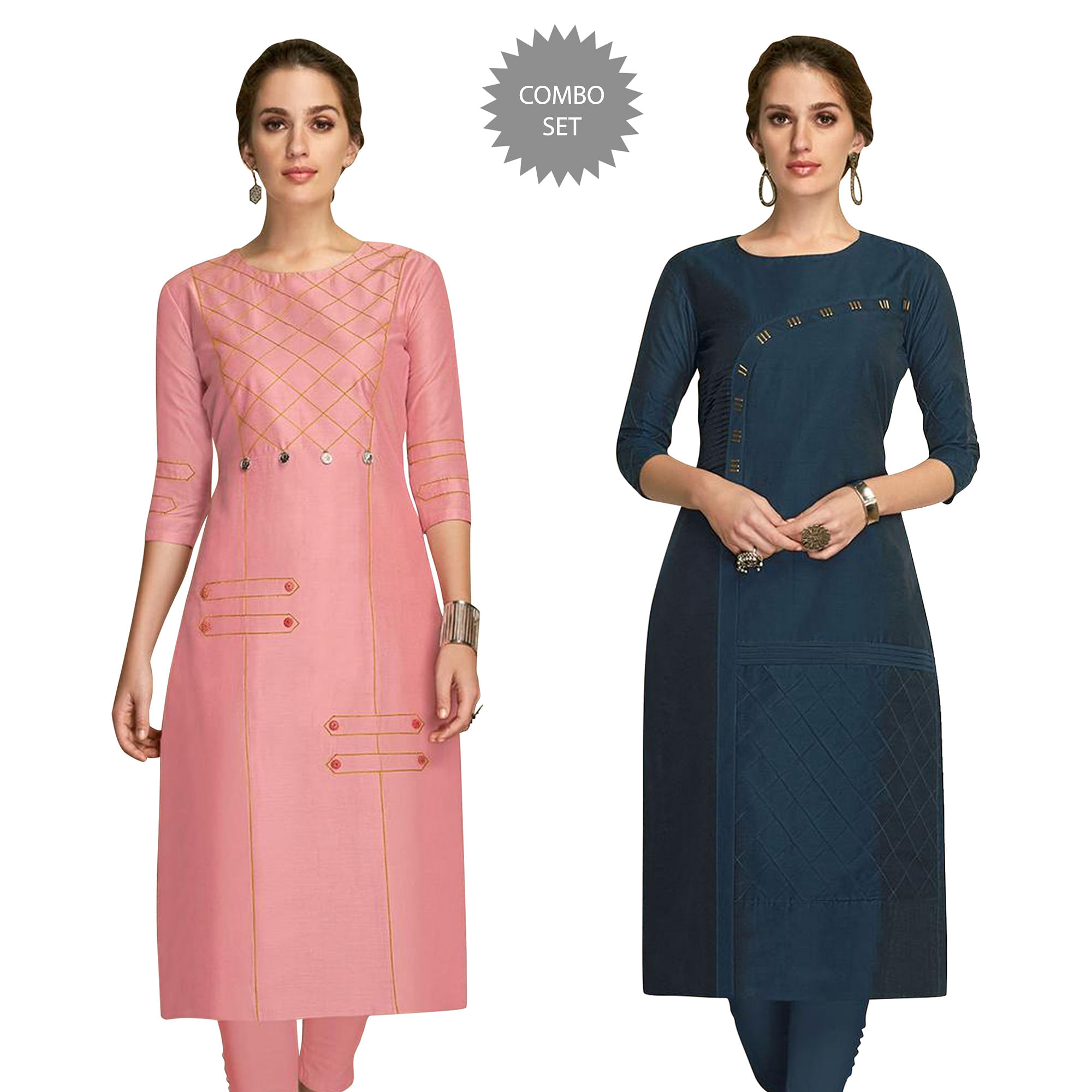 amazing-partywear-embroidered-viscose-kurti-pack-of-2