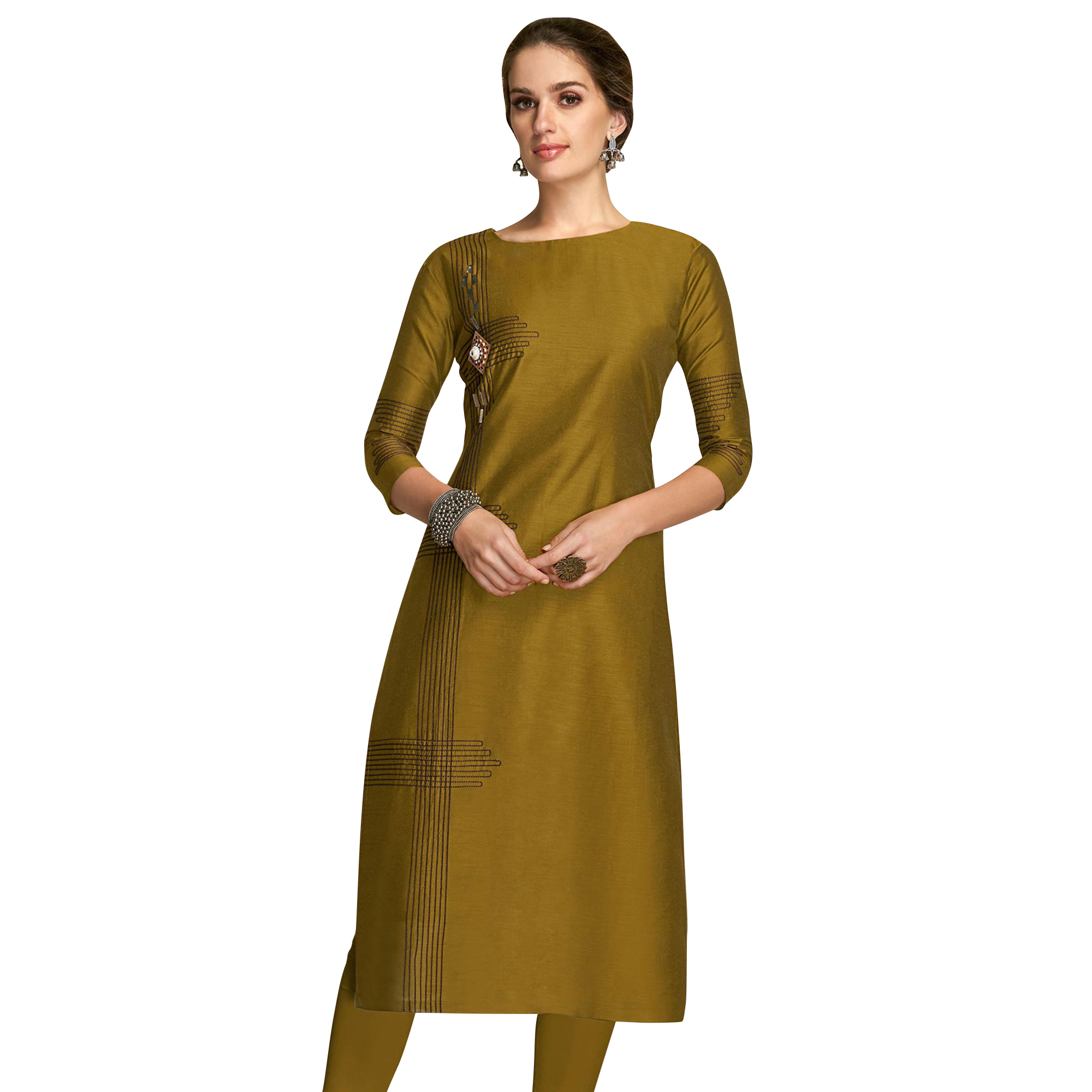 Hypnotic Partywear Embroidered Viscose Kurti - Pack of 2