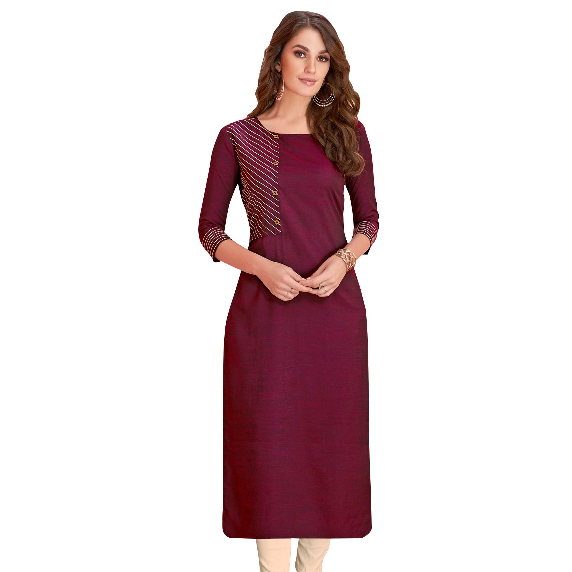Arresting Casual Wear Rayon Kurti - Pack of 2