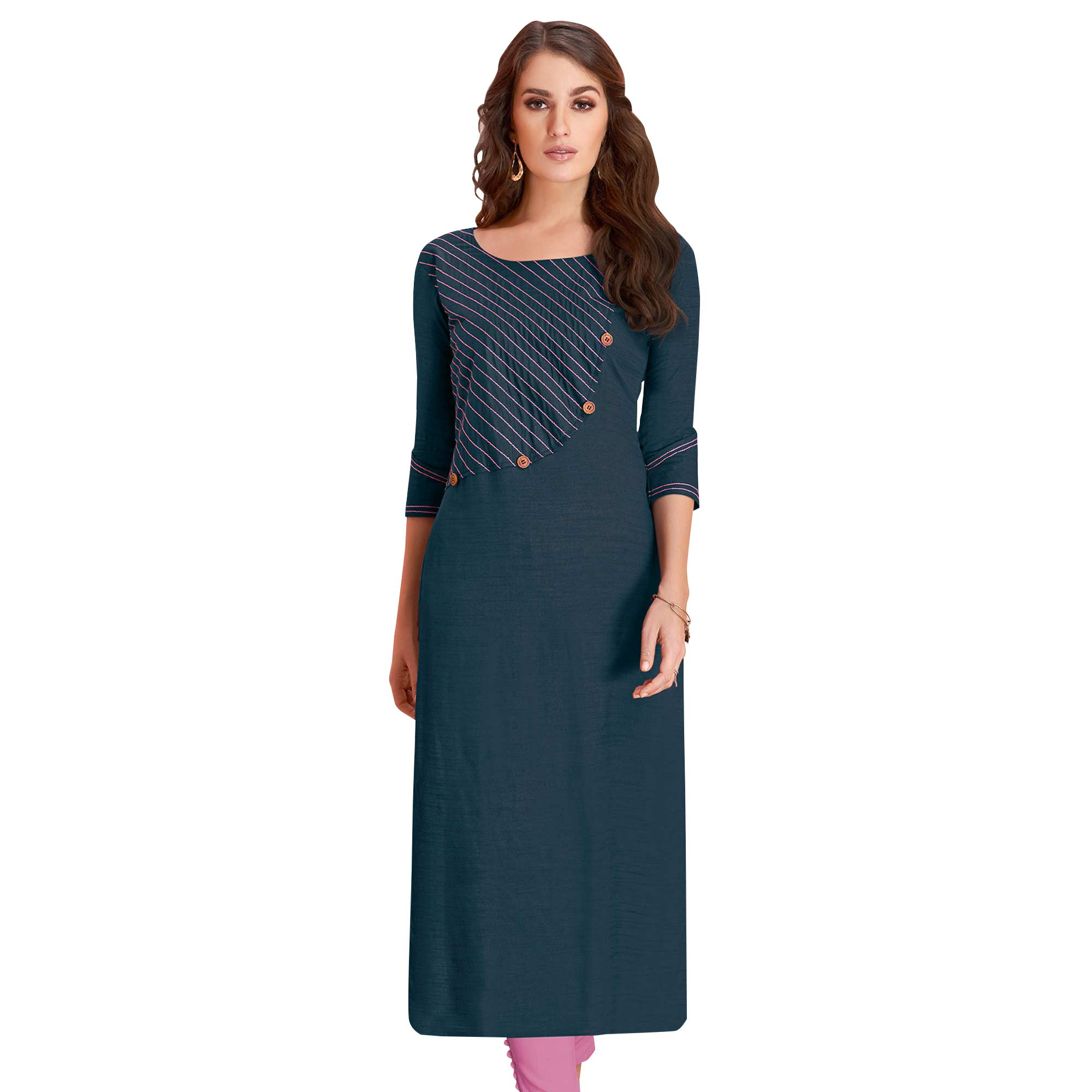 Trendy Casual Wear Rayon Kurti - Pack of 3