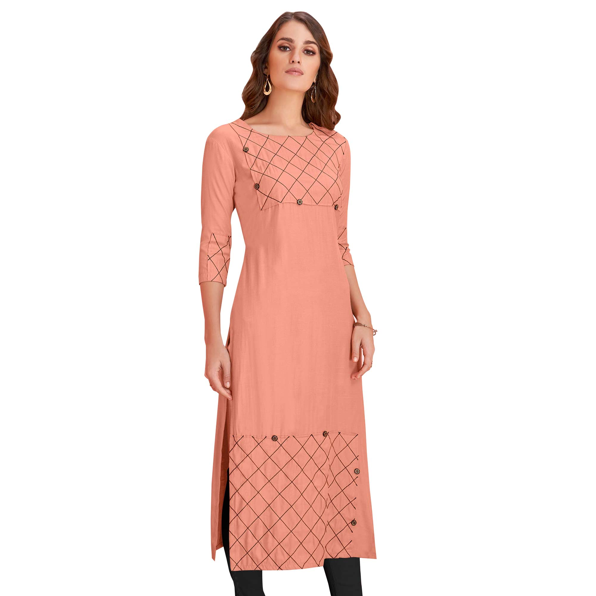 Radiant Casual Wear Rayon Kurti - Pack of 2
