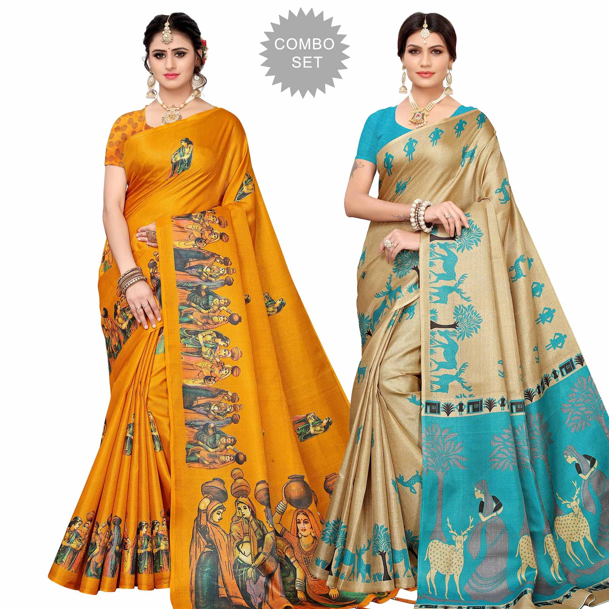 glowing-festive-wear-khadi-silk-saree-pack-of-2