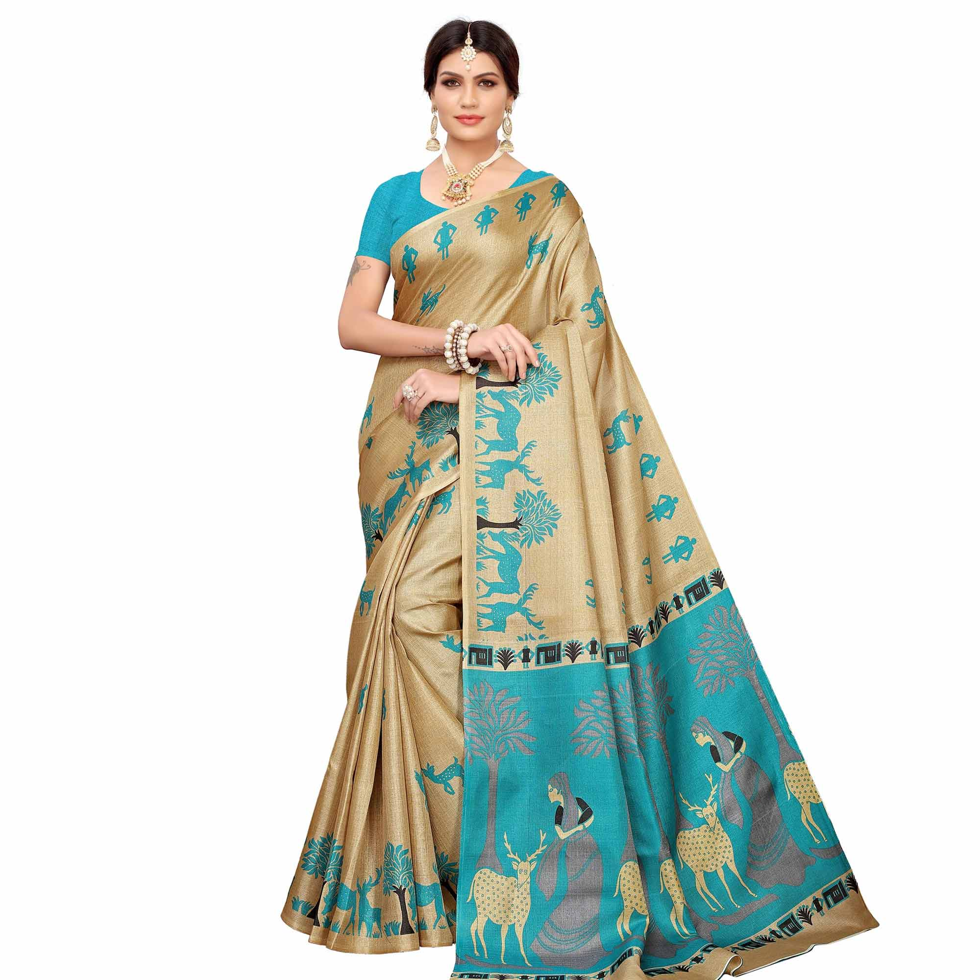 Capricious Festive Wear Khadi Silk-Mysore Silk Saree - Pack of 2