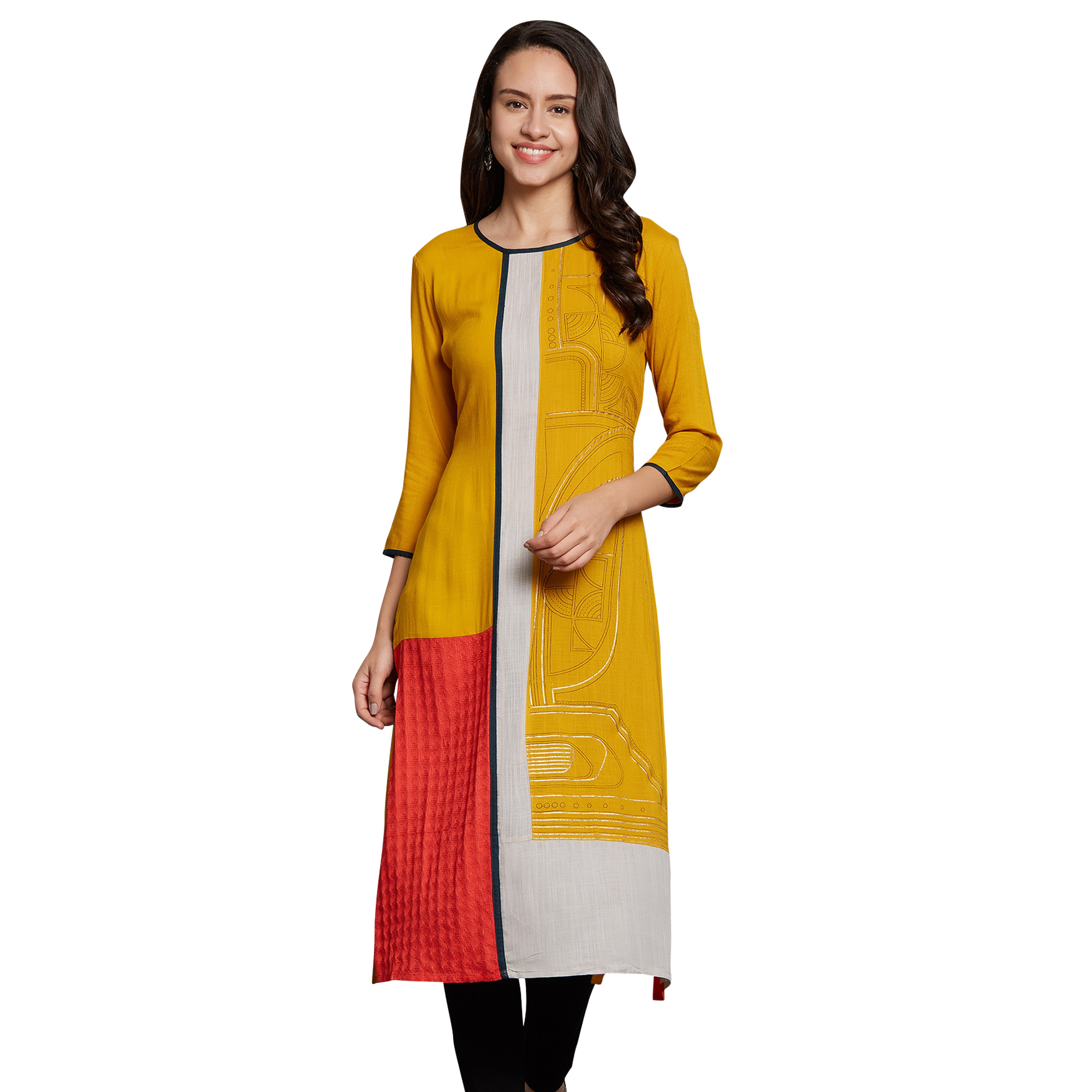 Blissful Casual Wear Printed Rayon-Crepe Kurti - Pack of 2