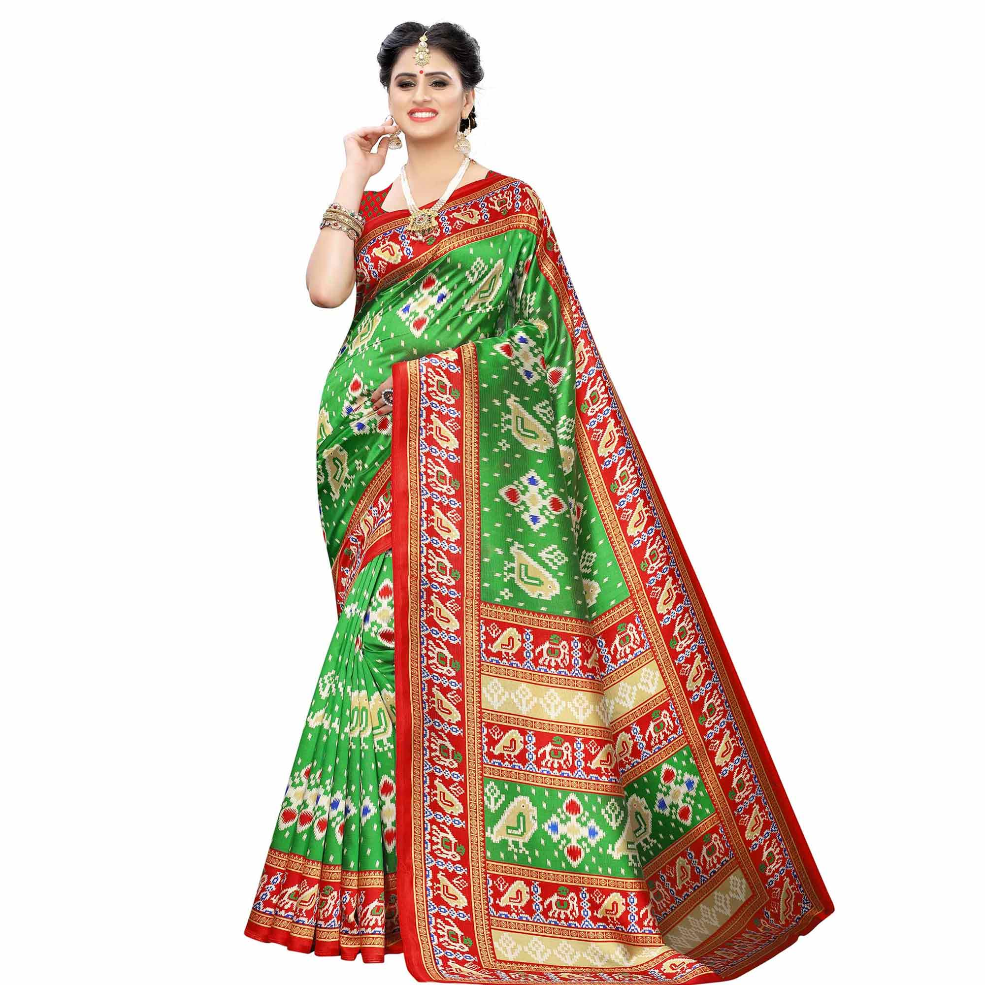 Lovely Casual Printed Art Silk Saree - Pack of 3