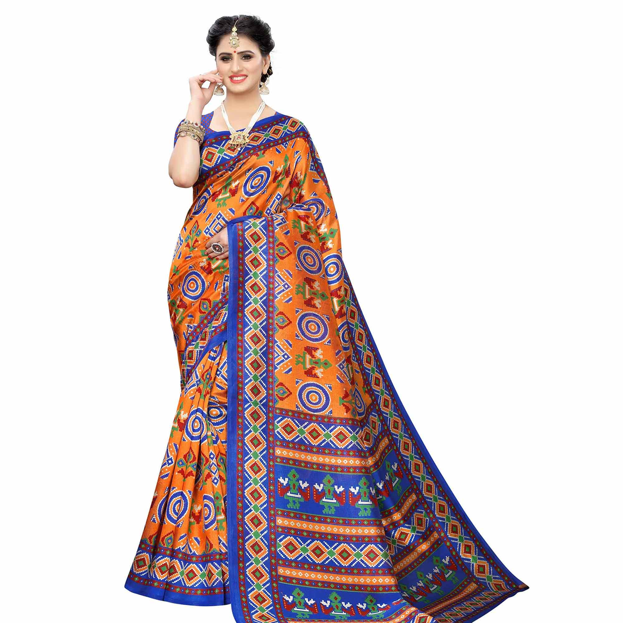 Glorious Casual Printed Art Silk Saree - Pack of 2