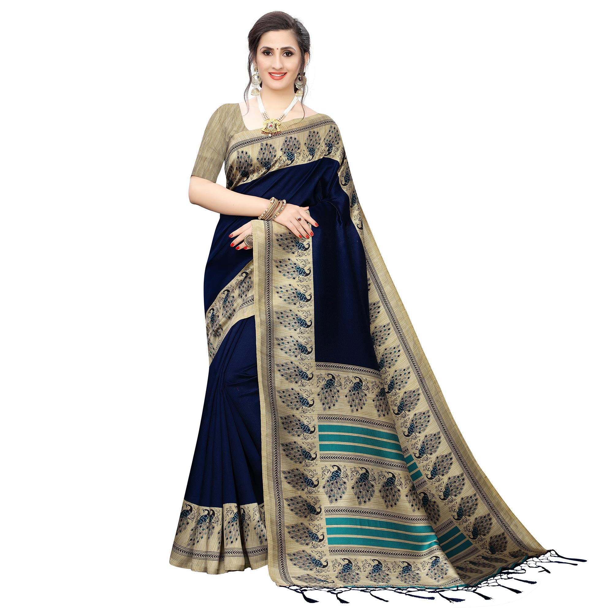 Exceptional Printed Art Silk Saree - Pack of 2