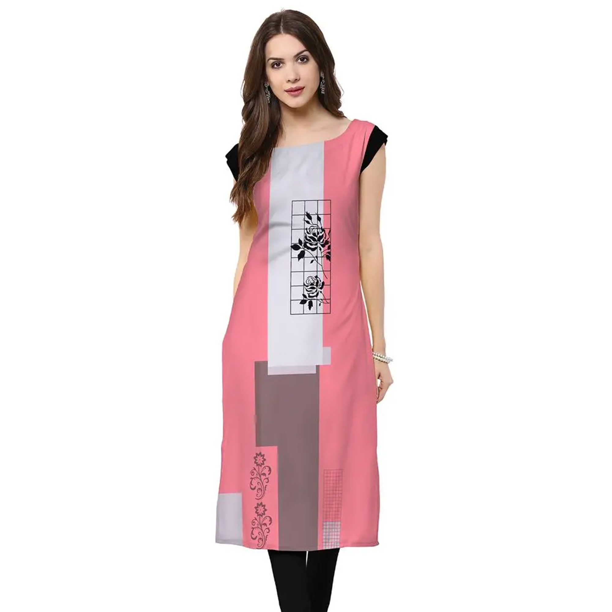 Lovely Casual Wear Printed Crepe Kurti - Pack of 3
