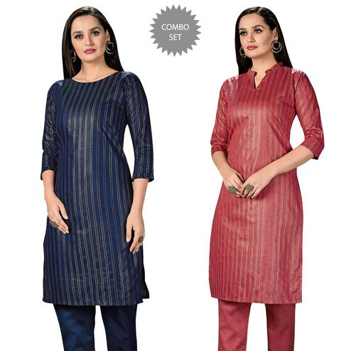 Glorious Casual Wear Printed Cotton Kurti - Pack of 2
