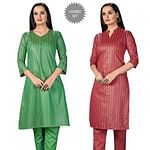 Attractive Casual Wear Printed Cotton Kurti - Pack of 2