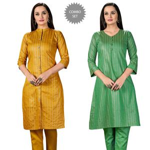 Pretty Casual Wear Printed Cotton Kurti - Pack of 2