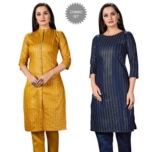 Alluring Casual Wear Printed Cotton Kurti - Pack of 2