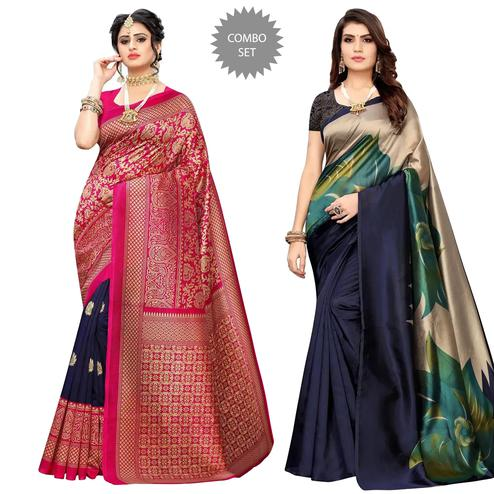 Flaunt Festive & Casual Printed Saree - Pack Of 2