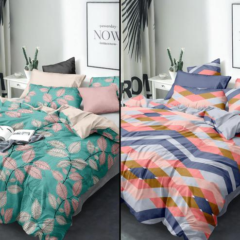 Intricate Printed Queen Sized Bedsheet With Cushion Cover - Pack of 2