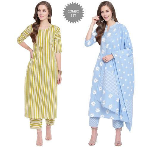 Pleasant Casual Wear Printed Kurti Set & Suit - Pack Of 2