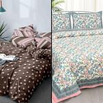 Glowing Printed Bedsheet With Cushion Cover - Pack Of 2