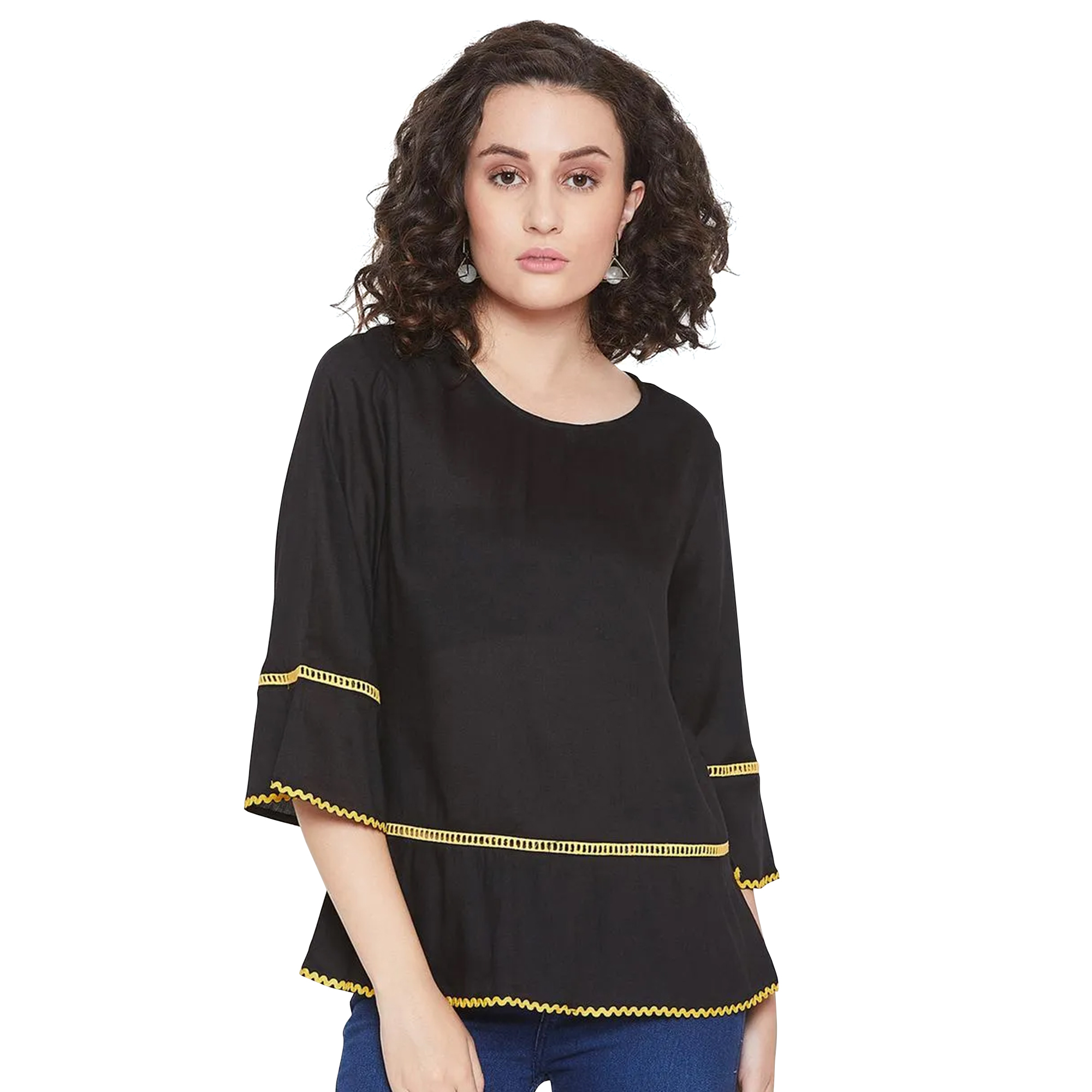 Delightful Casual Wear Crepe-Rayon Top - Pack of 2