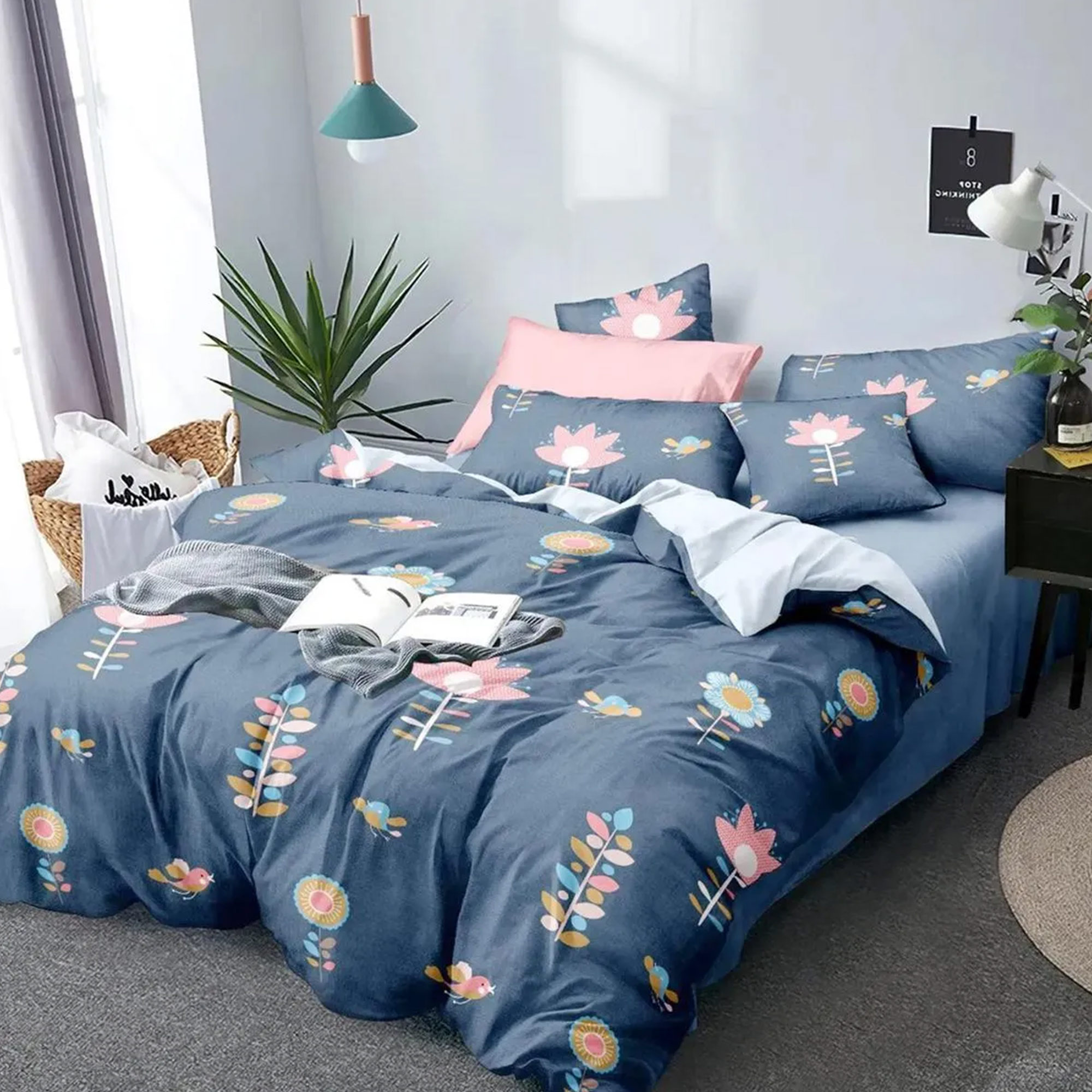 Trendy Printed Bed Sheets With 2 Pillow Covers - Pack of 2