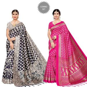 Desirable Festive Wear Printed Art Silk Saree - Pack of 2