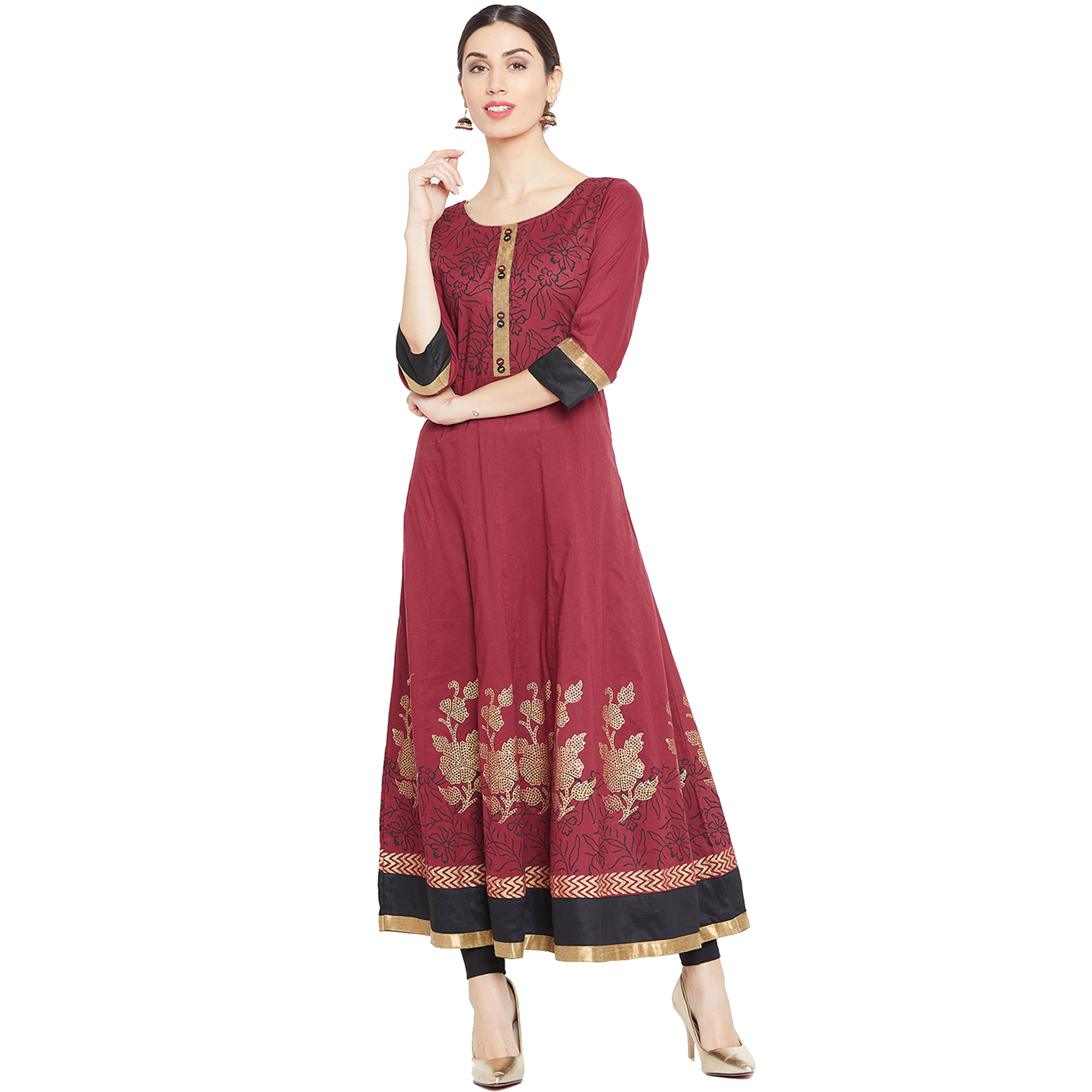 Demanding Party Wear Printed Cotton Kurti - Pack Of 2