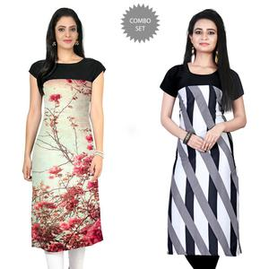 Lovely Casual Printed Rayon-Crepe Kurti - Pack of 2