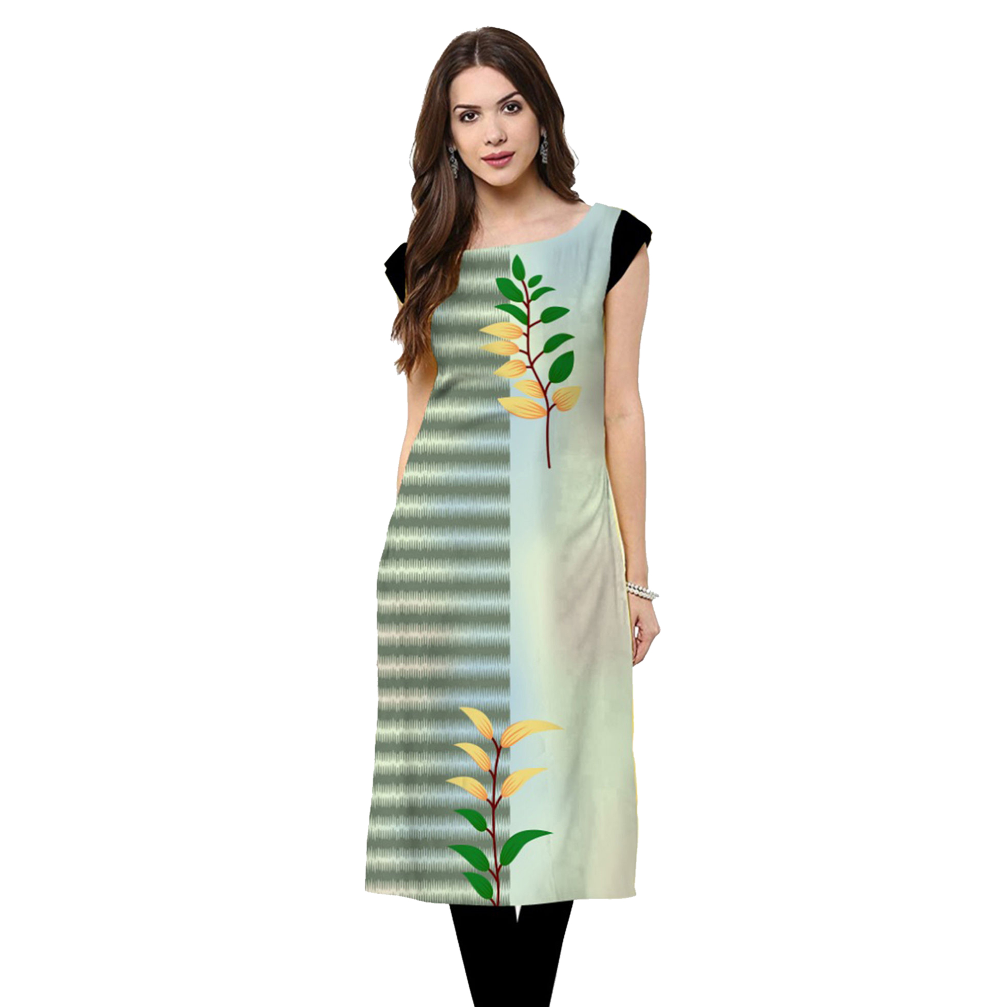 Ideal Casual Printed Rayon Kurti - Pack of 2