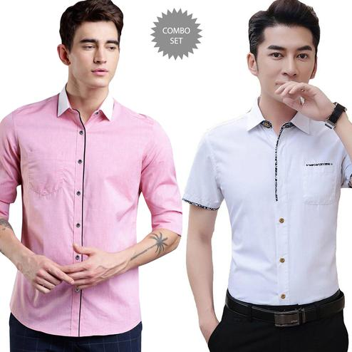 Beautiful Casual Wear Pure Cotton Shirts Pack Of 2