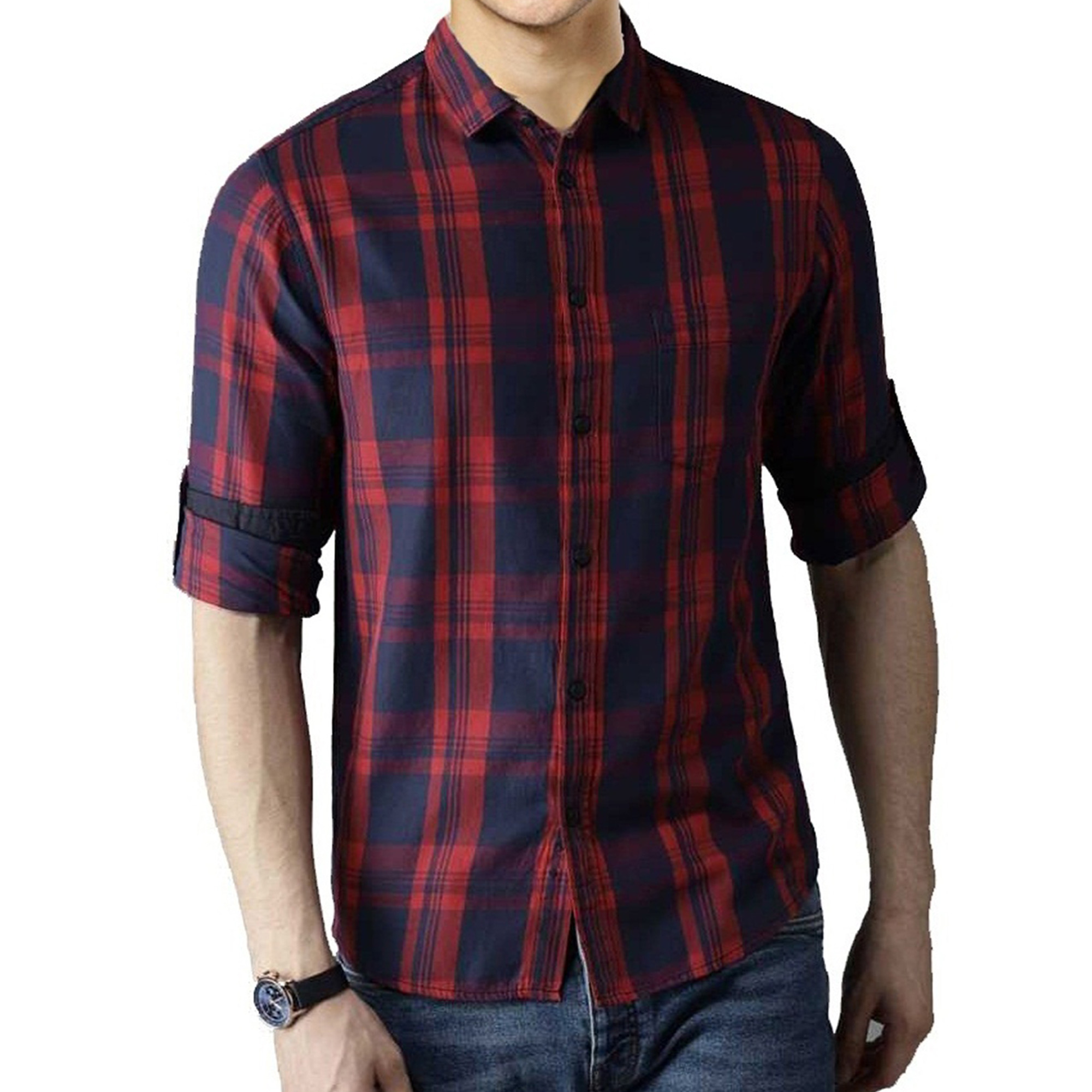 Majesty Casual Wear Pure Cotton Shirts Pack Of 3