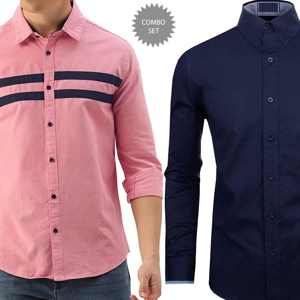 Eye-catching Casual Wear Pure Cotton Shirts Pack Of 2