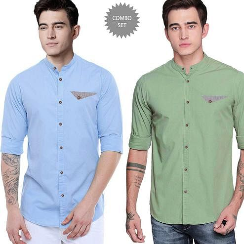 Hypnotic Casual Wear Pure Cotton Shirts Pack Of 2