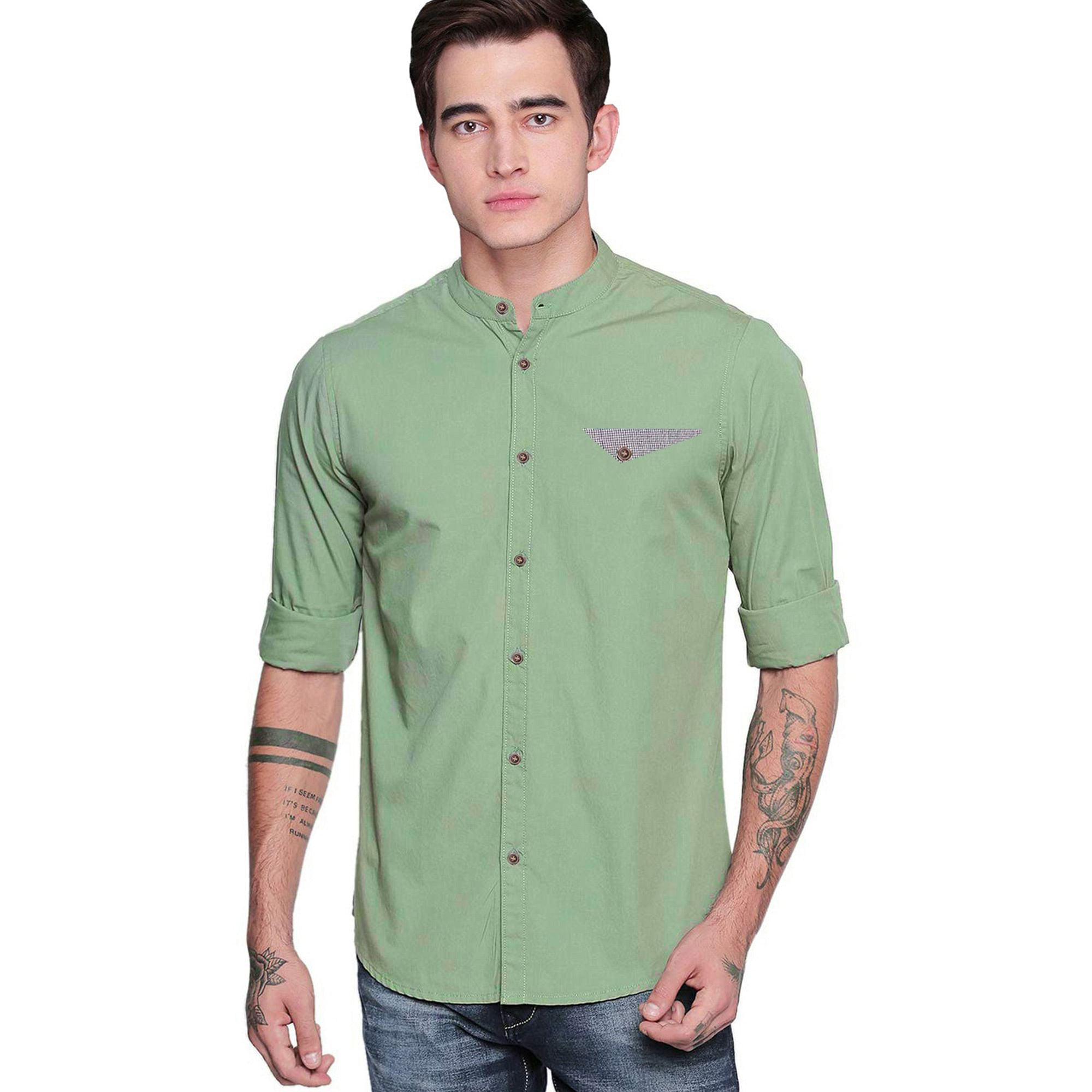 Flattering Casual Wear Pure Cotton Shirts Pack Of 3