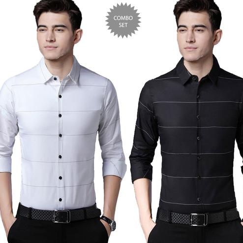 Marvellous Casual Wear Pure Cotton Shirts Pack Of 2