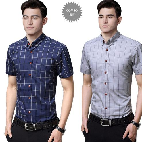 Sensational Casual Wear Pure Cotton Shirts Pack Of 2