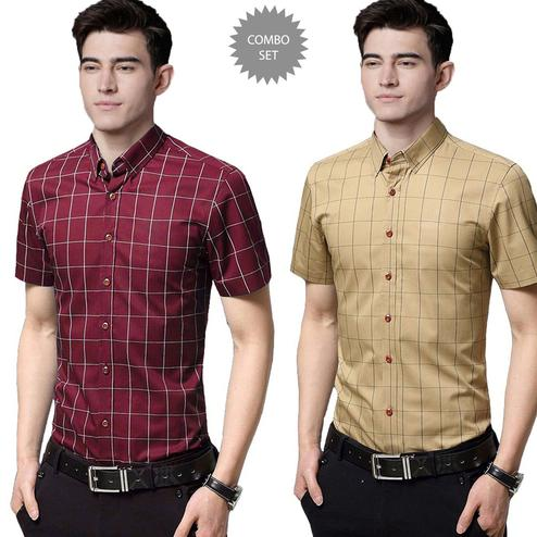 Ravishing Casual Wear Pure Cotton Shirts Pack Of 2