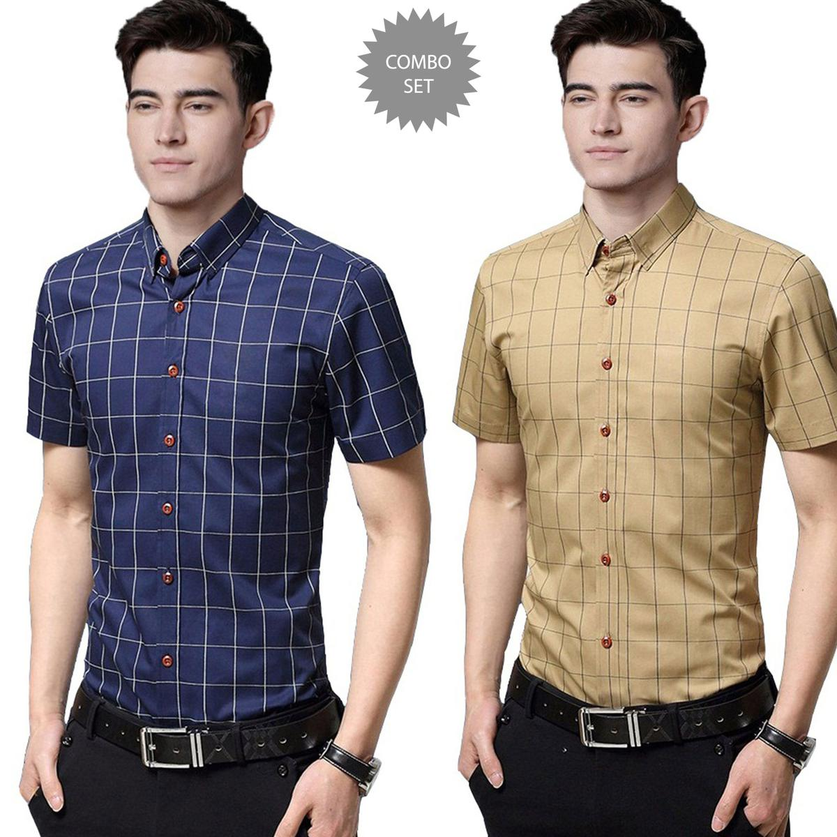 Staring Casual Wear Pure Cotton Shirts Pack Of 2