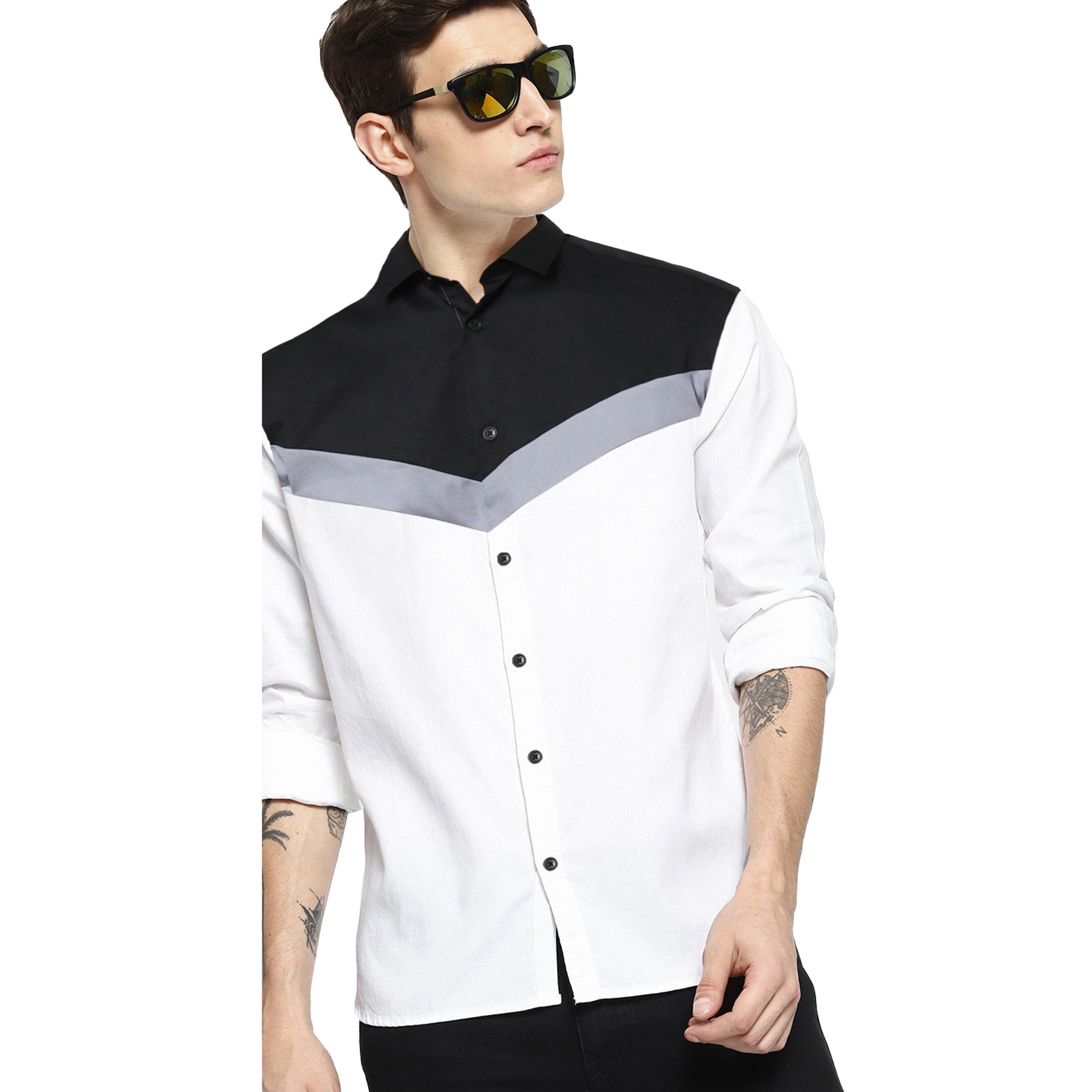 Dazzling Casual Wear Pure Cotton Shirts Pack Of 2