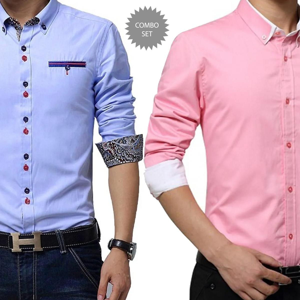 Arresting Casual Wear Pure Cotton Shirts Pack Of 2