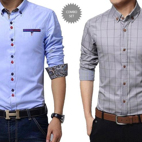 Desirable Casual Wear Pure Cotton Shirts Pack Of 2