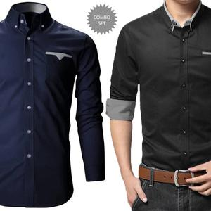 Radiant Casual Wear Pure Cotton Shirts Pack Of 2