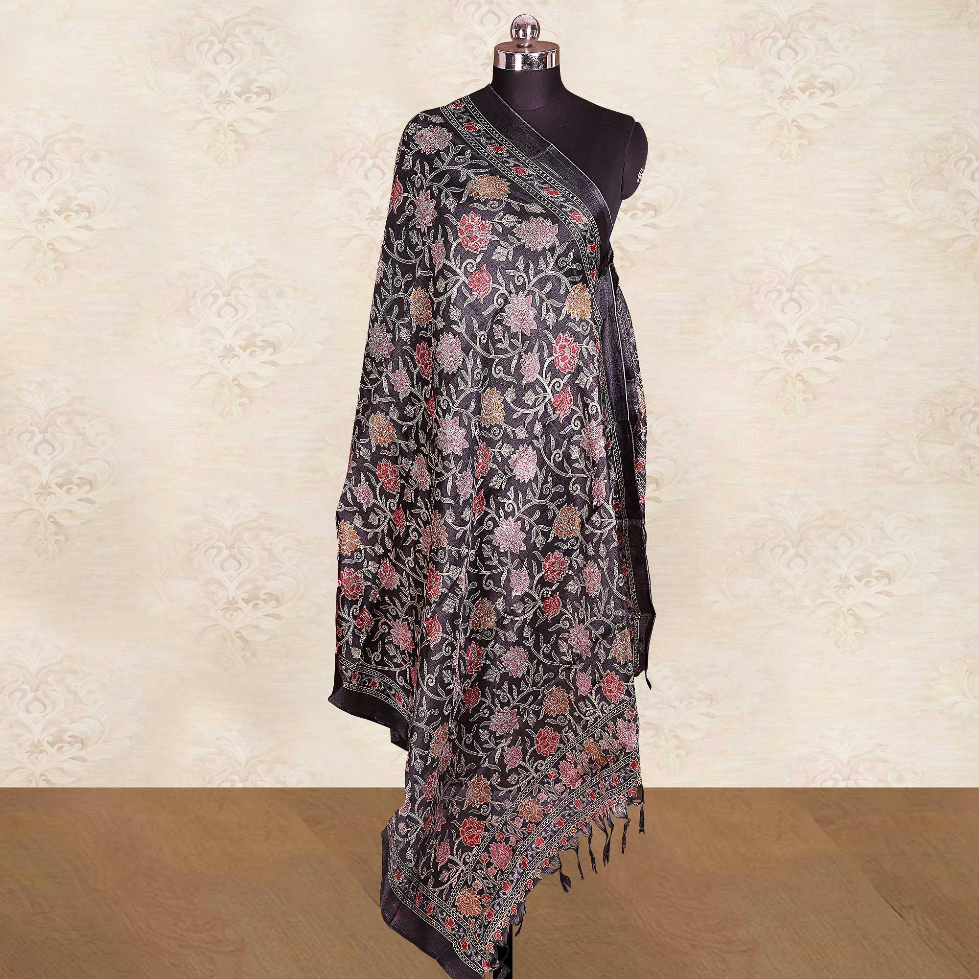 Marvellous Casual Wear Printed Cotton Blend Dupatta With Tassels - Pack of 2