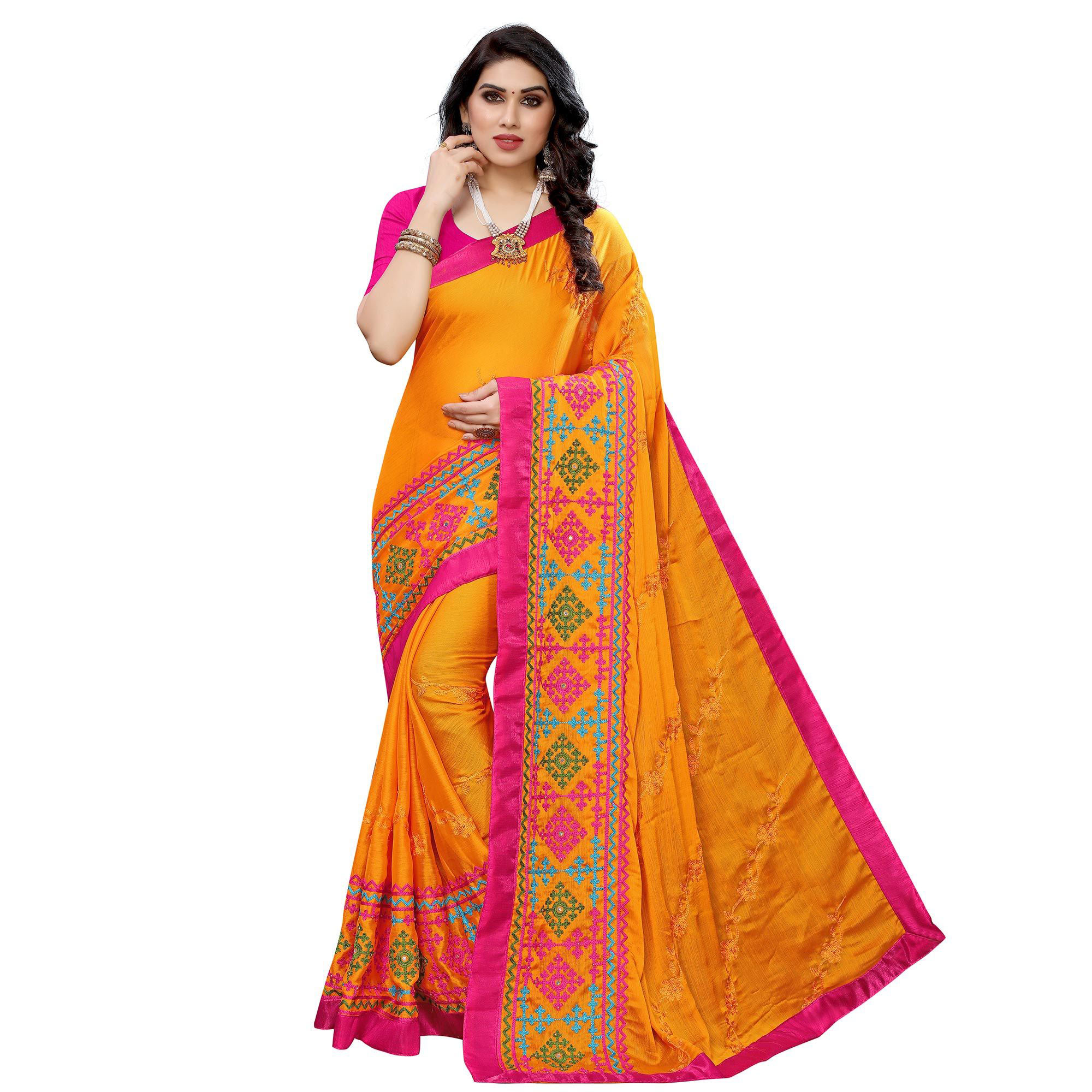Glorious Party Wear Chiffon Saree - Pack of 2