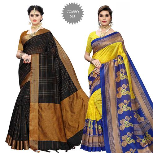 Charming Festive Wear Cotton Silk-Art Silk Saree - Pack of 2