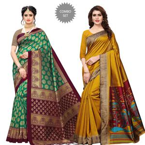 Sophisticated Printed Art Silk Saree - Pack of 2