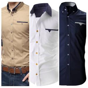 Eye-catching Casual Wear Pure Cotton Shirt Pack Of 3
