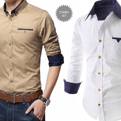 Fantastic Casual Wear Pure Cotton Shirt Pack Of 2