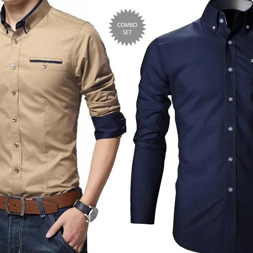Amazing Casual Wear Pure Cotton Shirt Pack Of 2