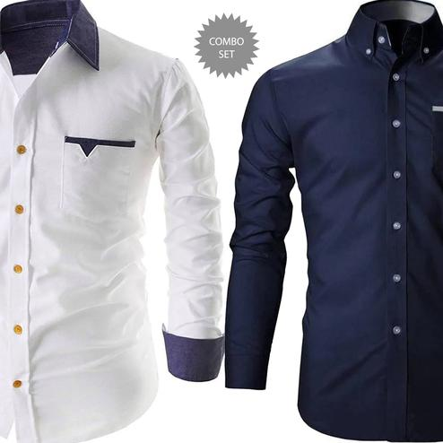 Gorgeous Casual Wear Pure Cotton Shirt Pack Of 2